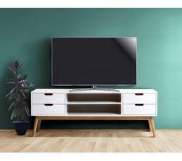 Meuble TV MAELA Pin blanchi  Meubles Tv BUT -> Meubles Tv But