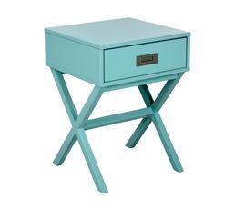 Chevet 1 tiroir Fred bleu céladon