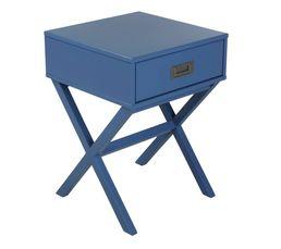 Fred Chevet à tiroir bleu foncé