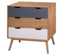 Commode scandinave 3 tiroirs  ANAEL