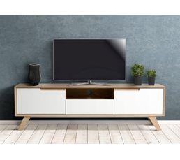 meuble tv gaby sonoma et blanc meubles tv but. Black Bedroom Furniture Sets. Home Design Ideas