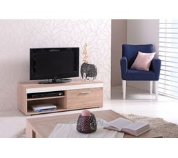 meuble tv r versible lorenzo blanc ou taupe meubles tv but. Black Bedroom Furniture Sets. Home Design Ideas