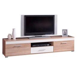 Meuble TV réversible LORENZO Taupe ou blanc