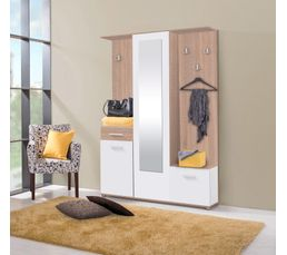 vestiaire martin blanc et sonoma meubles chaussures but. Black Bedroom Furniture Sets. Home Design Ideas