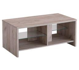LEGATO Table basse fixe Bois gris