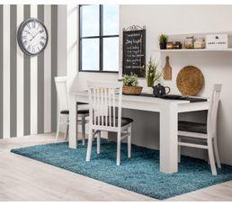 Table de séjour DOMUS Blanc et bois noir