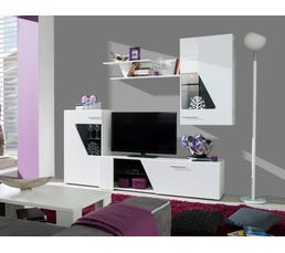 mur tv led ringo blanc meubles tv but. Black Bedroom Furniture Sets. Home Design Ideas