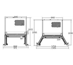 Réfrigérateur américain BEKO GNE 60521 X