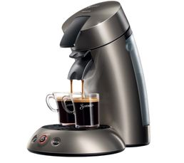 Cafeti�res & Expressos - Machine à dosettes PHILIPS HD7818/61 Titanium