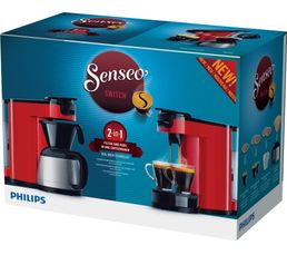 Cafetière à dosette Senseo PHILIPS HD7892/81 Switch rouge
