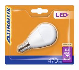 Ampoule LED 5,5W équiv 40W 470 lm E14 Blanc chaud