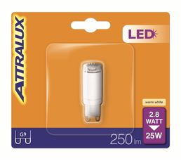 Ampoules - Ampoule LED 2,8W équiv 25W 250 lm G9 Blanc chaud