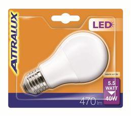 Ampoule LED 5,5W équiv 40W 470 lm E27 Blanc chaud