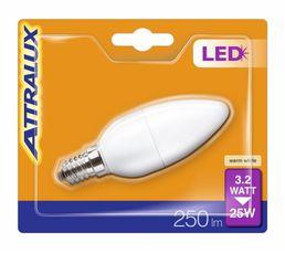 Ampoules - Ampoule LED 3,2W équiv 25W 250lm E14 Blanc chaud