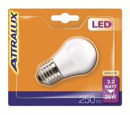 Ampoule LED 3,2W équiv 25W 250 lm E27 Blanc chaud