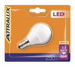Ampoule LED 3,2W équiv 25W 250 lm E14 Blanc chaud