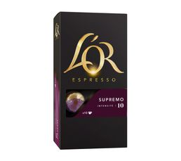 Dosette compatible Nespresso L'OR Supremo 10