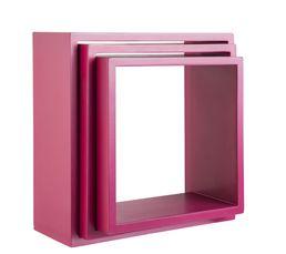 Set de 3 cubes DURALINE Rose laqué