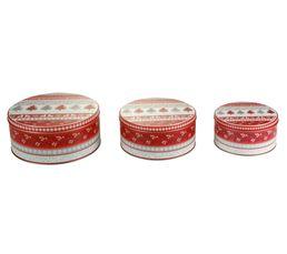 Boites De Rangement - Set de 3 boites GOURMANDISE Rouge