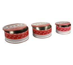 Set de 3 boites GOURMANDISE Rouge