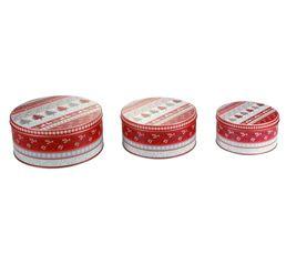 Set de 3 boites GOURMANDISE Rouge