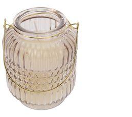 BLANC CHIC Bougie mini lanterne Gris