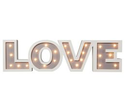 Guirlandes / Objets Lumineux - Objet Lumineux LOVE LETTRE LED 2 Blanc