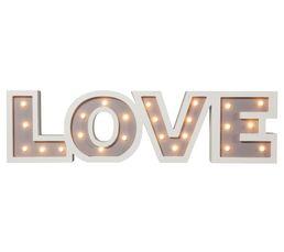 LOVE LETTRE LED 2 Objet lumineux Blanc