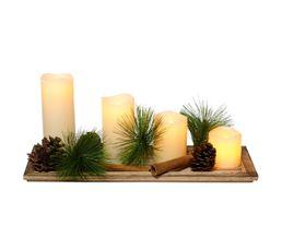 Guirlandes / Objets Lumineux - Objet Lumineux PLANCHE 4 BOUGIES LED Blanc