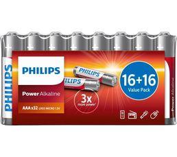 Piles Alcalines PHILIPS LR03P32FV