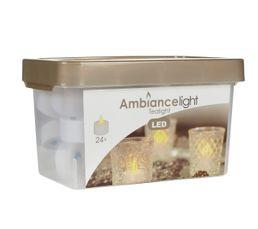 Guirlandes / Objets Lumineux - Bougie chauffe plat Set de 24 Blanc