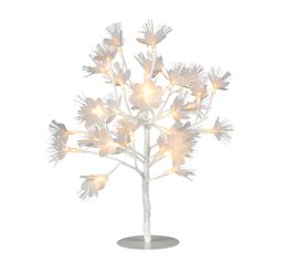 ARBRE LED FLEURS BLANCHES  Blanc