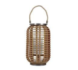 Bougeoirs Et Bougies - Lanterne cylindre 24,5X38 cm BAMBOU Naturel