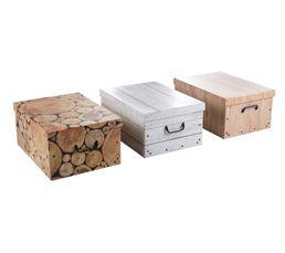 Boites De Rangement - Boîtes en carton assorties