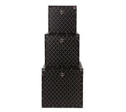 Set de 3 malles STARLETTE Noir