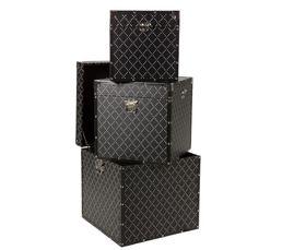 Coffres & Malles - Set de 3 malles STARLETTE Noir