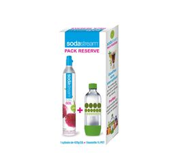 SODASTREAM Pack Reserve C02 Cylindre C02 + bouteille PET