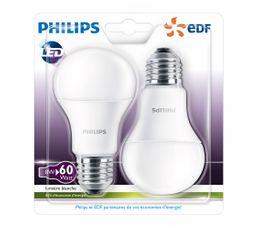8W équiv 60W E27 Ampoule LED Blanc chaud