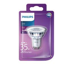 Ampoule LED 3,5W équiv 35W 265lm GU10 Blanc chaud