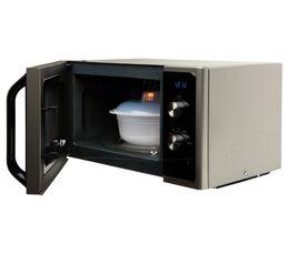 Capacité de 23 Litres Cavité en céramique email : Pour une cuisson en douceur et en profondeur restituant mieux les saveurs et préservant les qualités nutritionnelles des aliments. La cocotte vapeur fournie permet une cuisson saine et équilibrée des aliments en préservant les vitamines et en permettant une cuisson en un temps record. Finition Silver Capacité en litres : 23 Puissance (Watts) micro-ondes : 800 Plateau tournant (en cm) : 28,8 Commandes : Electro-mécanique Cavité : Céramique email Fonctions : Micro-ondes monofonction Niveaux de puissance : 6 Accessoires : Cocotte vapeur Dimensions en cm : L. 48,9 - H. 27,5 - P. 37,4 Minuterie : 60 min Dispo pcs détachées donnée fournisseur : 4 ans Garantie : 2 ans , Pièces , Main d'oeuvre