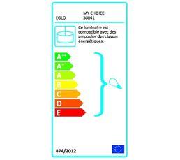 Cordon textile électrique E27  Blanc