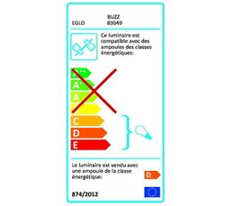 Spot Reglette 4L BUZZ Nickel