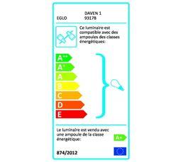 PLAFONNIER 4 LED DAVEN chrome