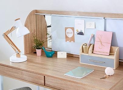 Mobilier et meubles pour coin bureau for Mobilier bureau etudiant