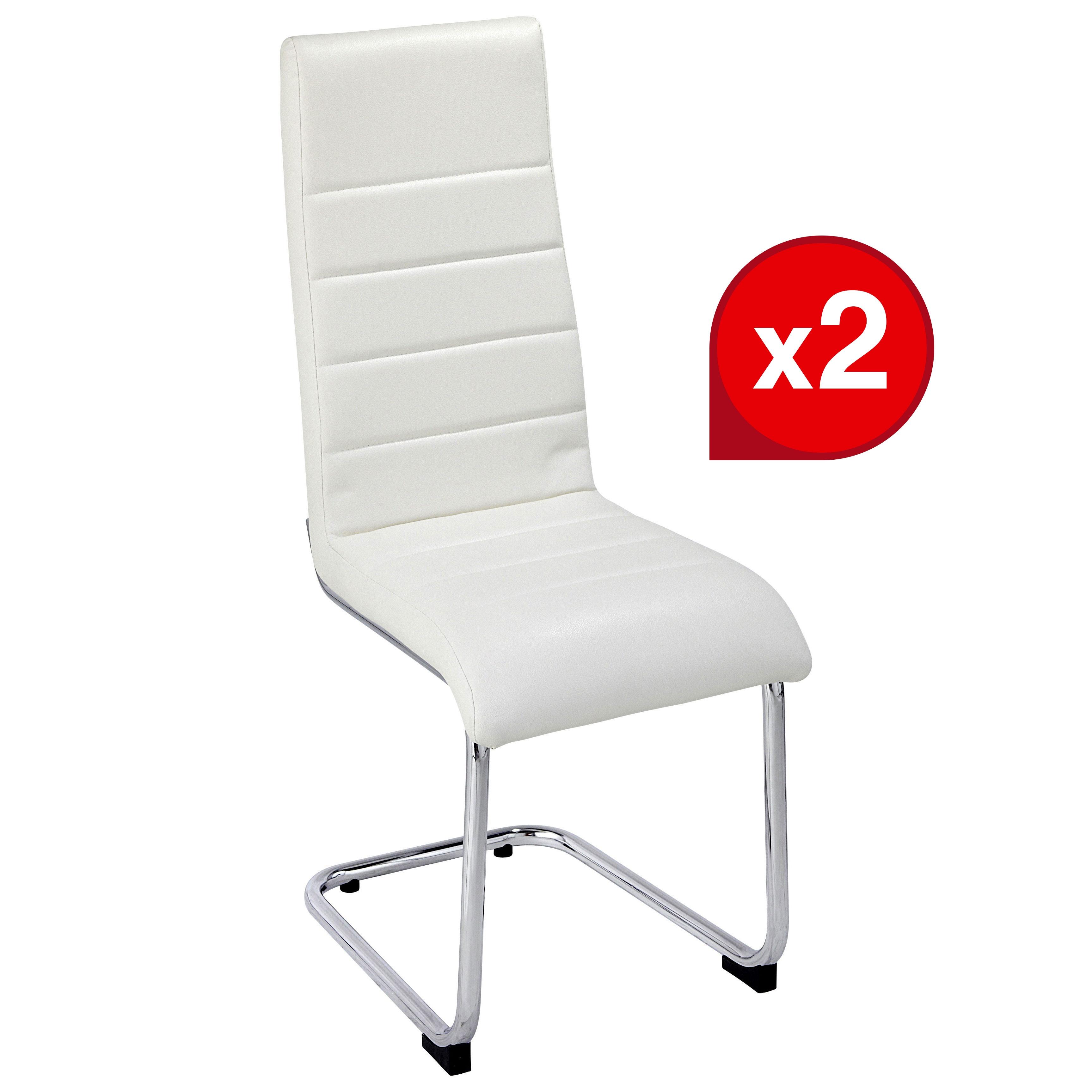 - Lot de 2 chaises LUGE Blanc