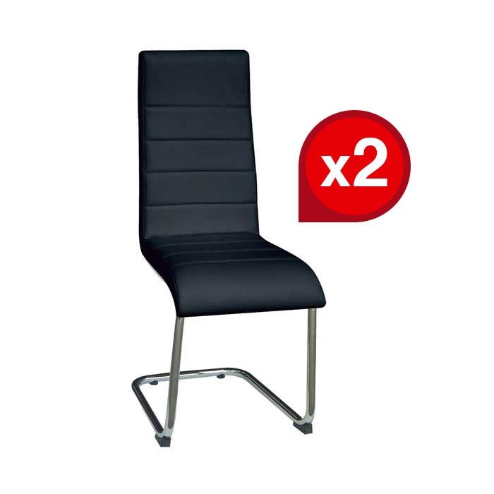 Lot de 2 chaises LUGE Noir