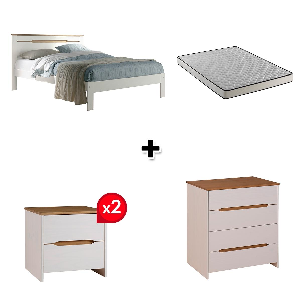 Chambre complète ELISA coloris blanc
