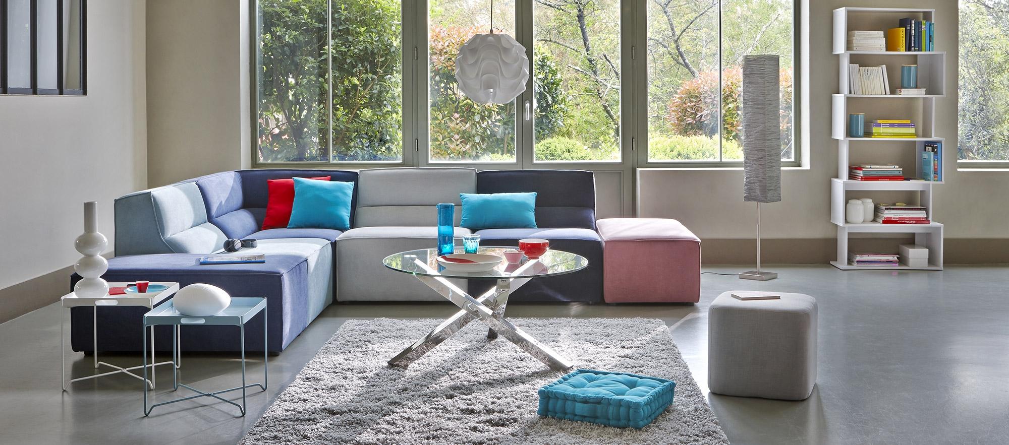 salon sjour game color sjour allure moderne - Salon Moderne But