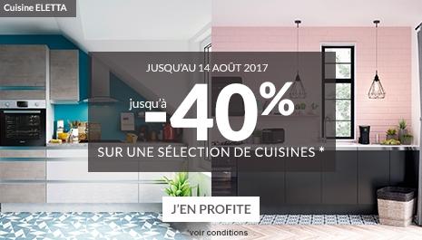 Offre -40% sur une selection de Cuisines