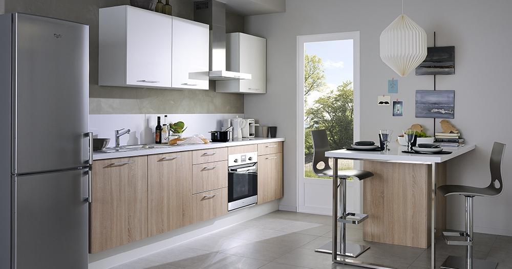 cuisine tipy en kit rouge. Black Bedroom Furniture Sets. Home Design Ideas